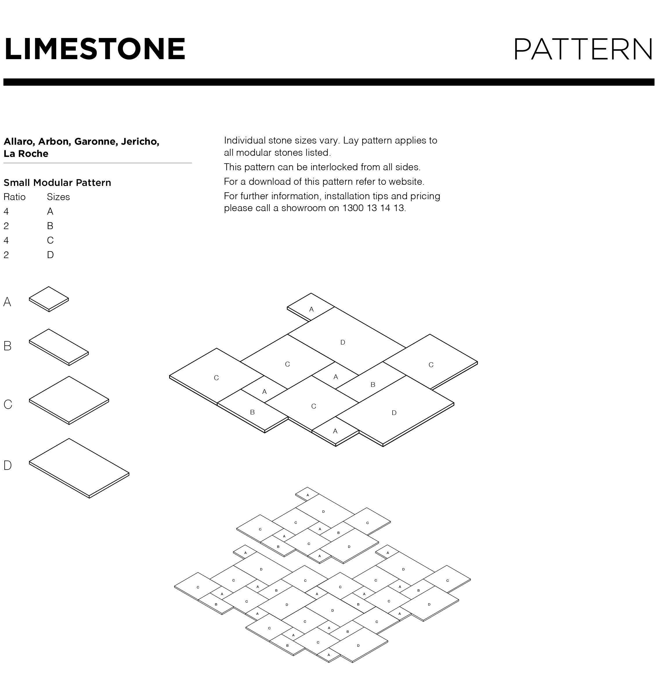 Limestone flooring pattern types