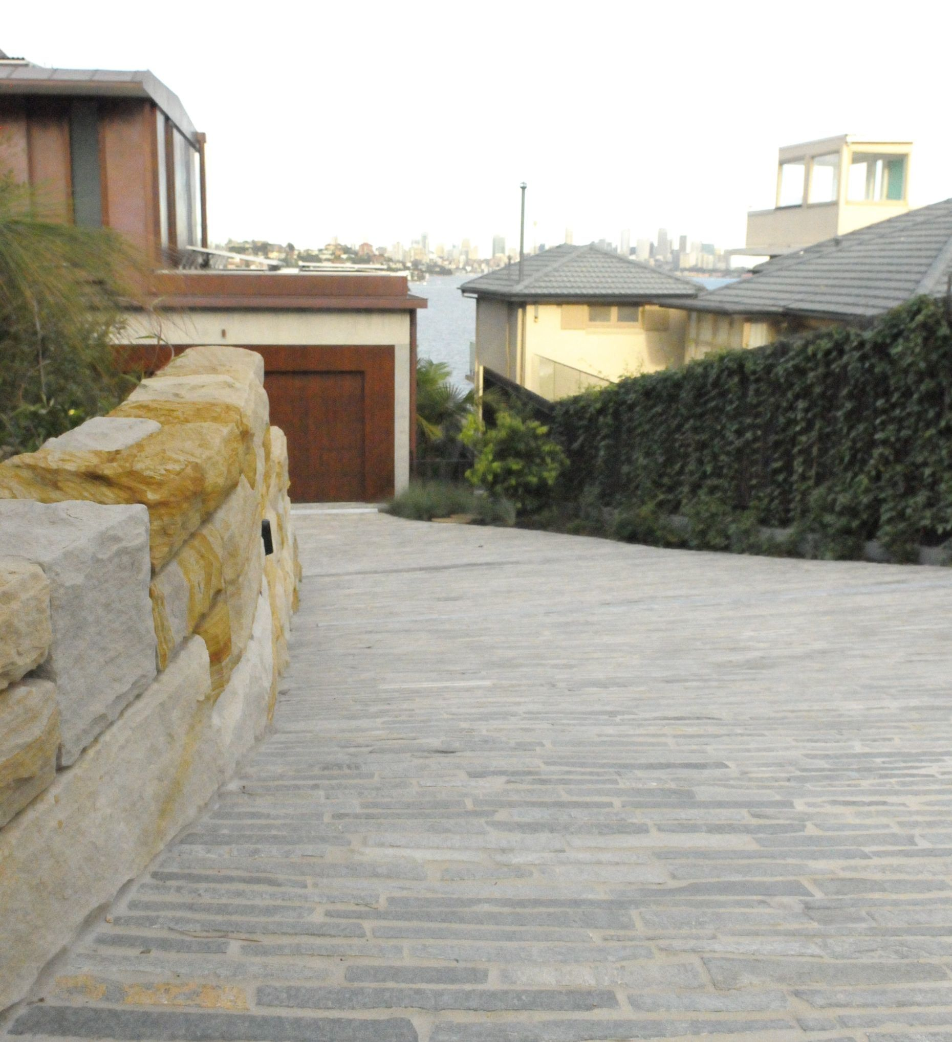Eco Outdoor Endicott Filetti flooring used in an organic home driveway application