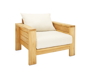 Nomah® Lounge Chair | Slub Linen Fabric