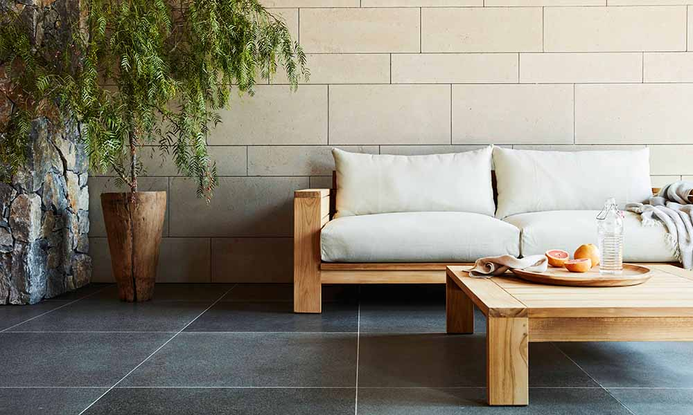 Nomah Lounge with Coffee Table against Barlow traditional format wall