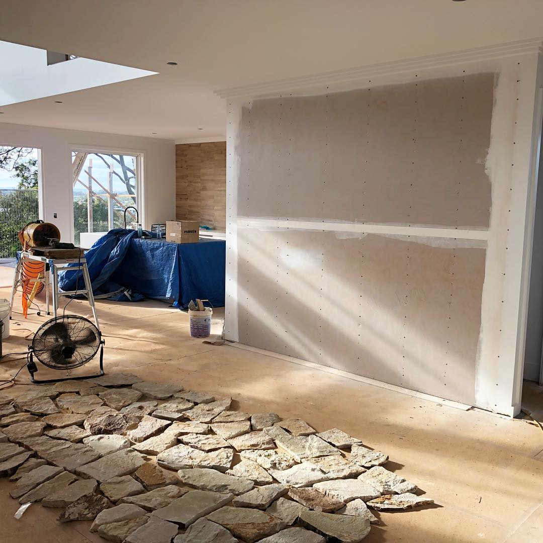 stone cladding installation