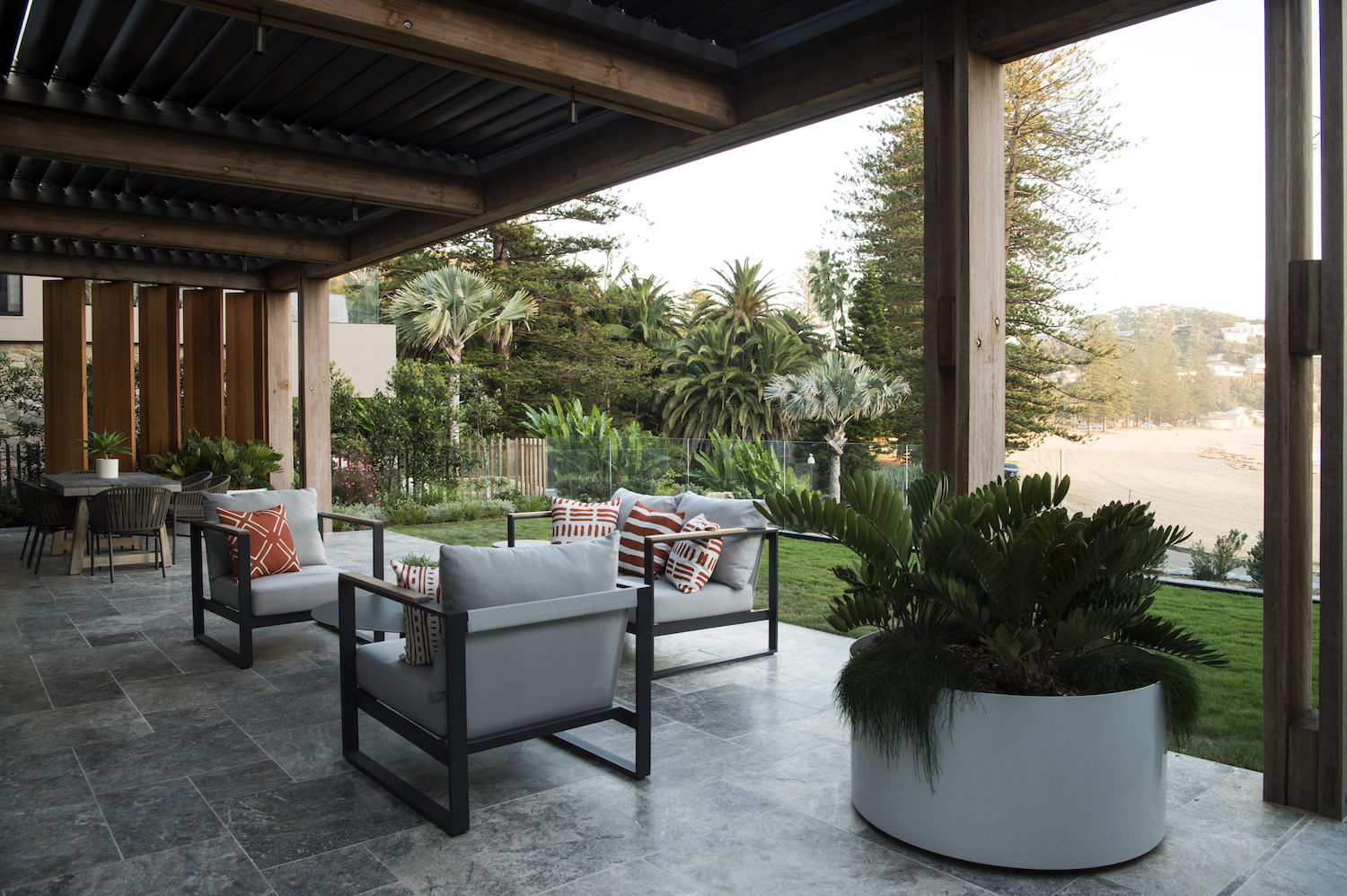 It's all about the view in this outdoor space